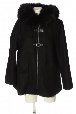 Zara Abrigo con capucha negro look casual