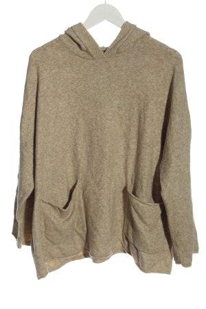 Zara Capuchon sweater room gestippeld casual uitstraling