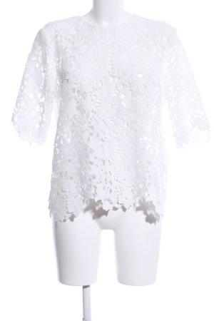 Zara Top à capuche blanc élégant