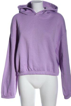 Zara Kapuzensweatshirt lila Casual-Look