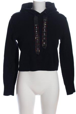 Zara Sudadera con capucha negro look casual