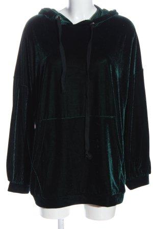 Zara Hooded Sweatshirt green casual look