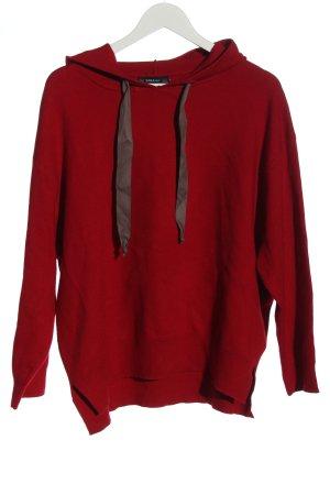 Zara Kapuzensweatshirt rot Casual-Look