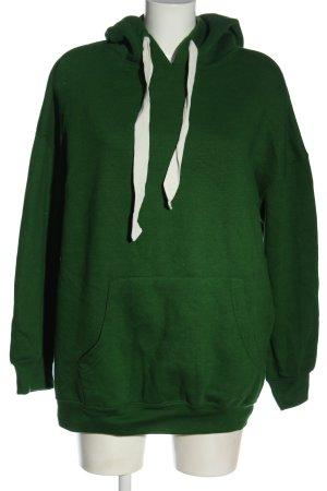 Zara Kapuzensweatshirt grün Casual-Look