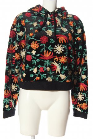 Zara Kapuzensweatshirt Allover-Druck Casual-Look