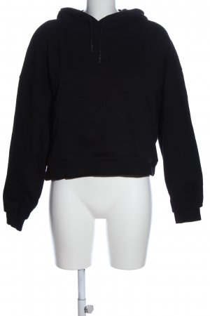 Zara Kapuzensweatshirt schwarz Casual-Look