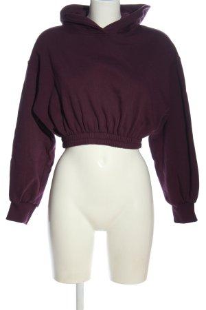 Zara Felpa con cappuccio lilla stile casual