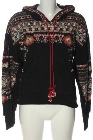 Zara Kapuzensweatshirt grafisches Muster Casual-Look