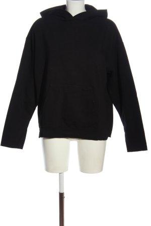 Zara Felpa con cappuccio nero Stampa leopardata stile casual