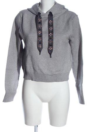 Zara Kapuzensweatshirt hellgrau meliert Casual-Look
