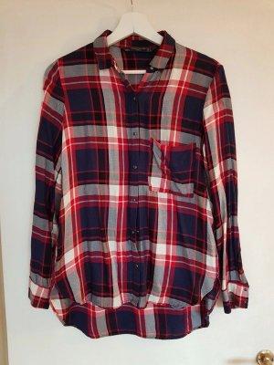 Zara, kariert, Hemd, Bluse, rot, blau, weiß, S