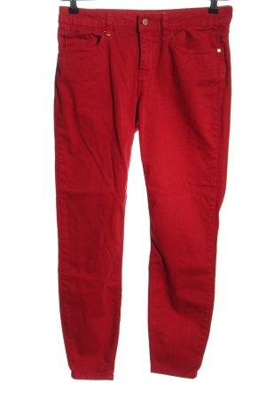 Zara Jeans a carota rosso stile casual