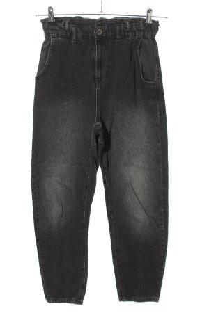 Zara Wortel jeans zwart casual uitstraling