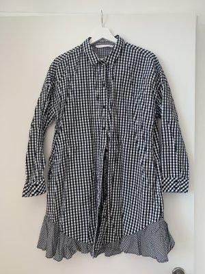 Zara Kartiertes Hemd Kleid