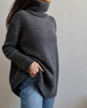 Zara Wool Sweater grey-silver-colored cashmere