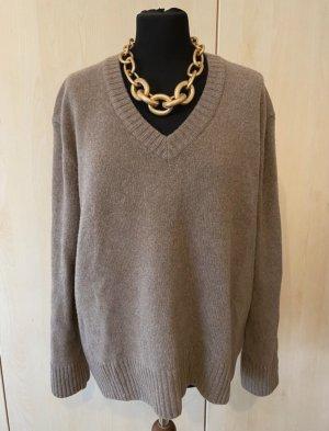 Zara Kaschmir Pullover V-Ausschnitt braun