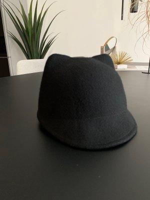 Zara Sombrero de lana negro Lana