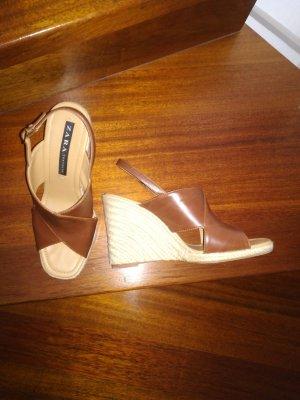 Zara Keilsandaletten Peeptoe-Sandale, Größe 41