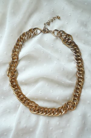 Zara Kette Gliederkette Statement Panzerkette Big Chain Streetstyle Gold