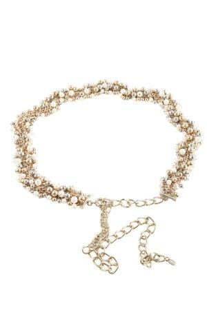 Zara Cinturón de cadena color oro look casual