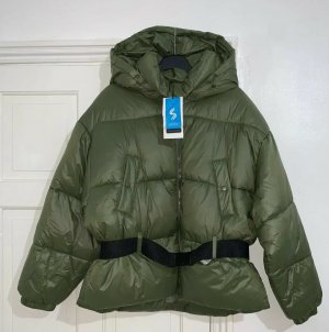 Zara khaki Sorona Dupont Puffer Stepp-Jacke Gr. L neu mit Etikett