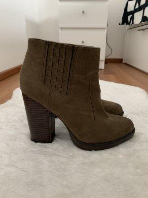 Zara Trafaluc Booties khaki