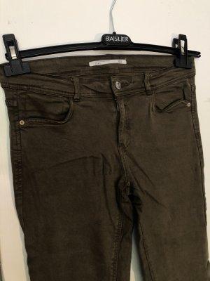 Zara | Khakifarbene Skinny Jeans