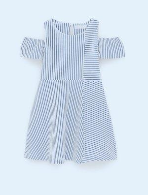 Zara kids Kinder Kleid 13-14,164cm neu mit Etikett Blau-Weiß gestreift schulterfrei