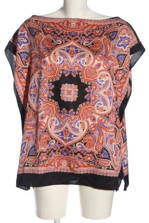 Zara Kimono-Bluse grafisches Muster Casual-Look
