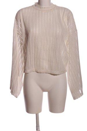 Zara Kimono-Bluse wollweiß Casual-Look