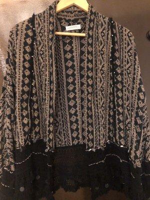 Zara Kimono nero-beige