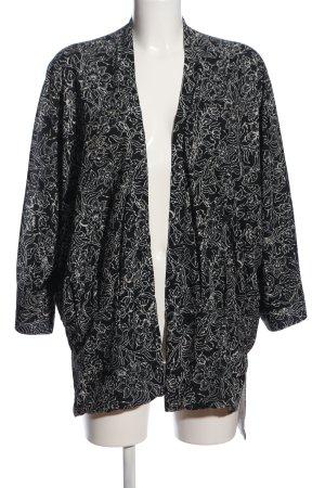 Zara Felpa kimono nero-bianco motivo astratto stile casual