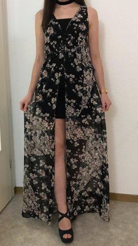 Zara Kimonokleid Blusenkleid Strandkleid mit Blumen Print Transparent