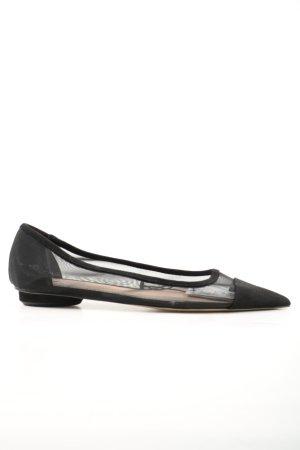 Zara Klassische Ballerinas schwarz Casual-Look
