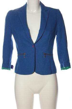 Zara Klassischer Blazer blau Casual-Look