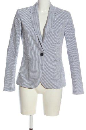 Zara Klassischer Blazer blau-weiß Streifenmuster Business-Look