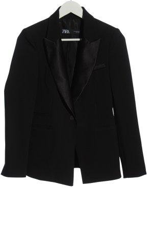 Zara Klassischer Blazer schwarz Business-Look