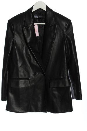Zara Klassischer Blazer schwarz Casual-Look
