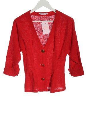 Zara Klassischer Blazer rot Casual-Look