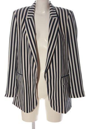 Zara Klassischer Blazer schwarz-weiß Streifenmuster Business-Look