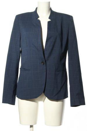 Zara Klassischer Blazer blau Karomuster Business-Look