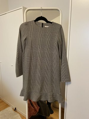 Zara Peplum Dress grey brown