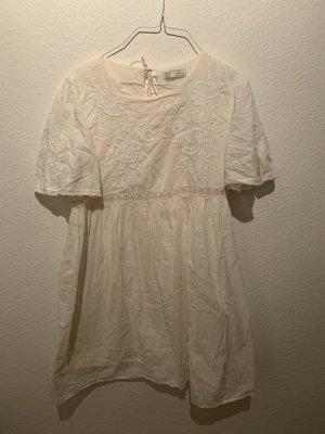Zara Vestido babydoll blanco