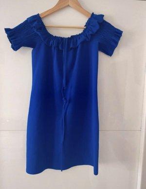 Zara Off-The-Shoulder Dress blue