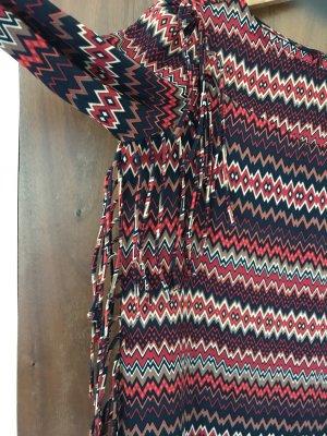 Zara Woman Vestido con flecos multicolor