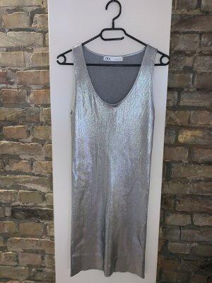 Zara Shirt Dress silver-colored