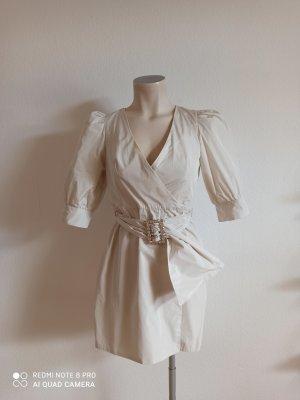 Zara Kopertowa sukienka jasnoszary-jasnobeżowy
