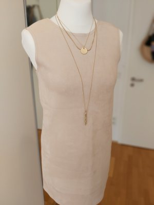 Zara Leather Dress cream-nude