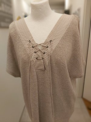 Zara Sukienka dresowa jasnobeżowy