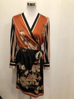 Zara Wraparound orange-black